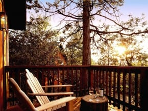 Cabin Deck at Sunset
