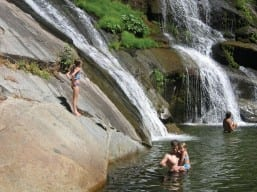 Guests at Nearby Carlon Falls