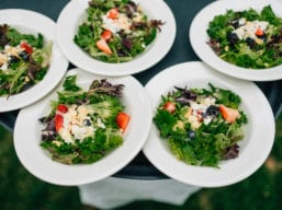 Tasty Salads (Kelsey Kay of Ken Kienow Wedding Photography)