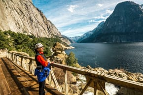 Gazing out on Hetch Hetchy Reservoir (Kim Carroll 3-17.71)