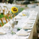 Table Settings at the Evergreen Lodge (L'Heureux Photography)